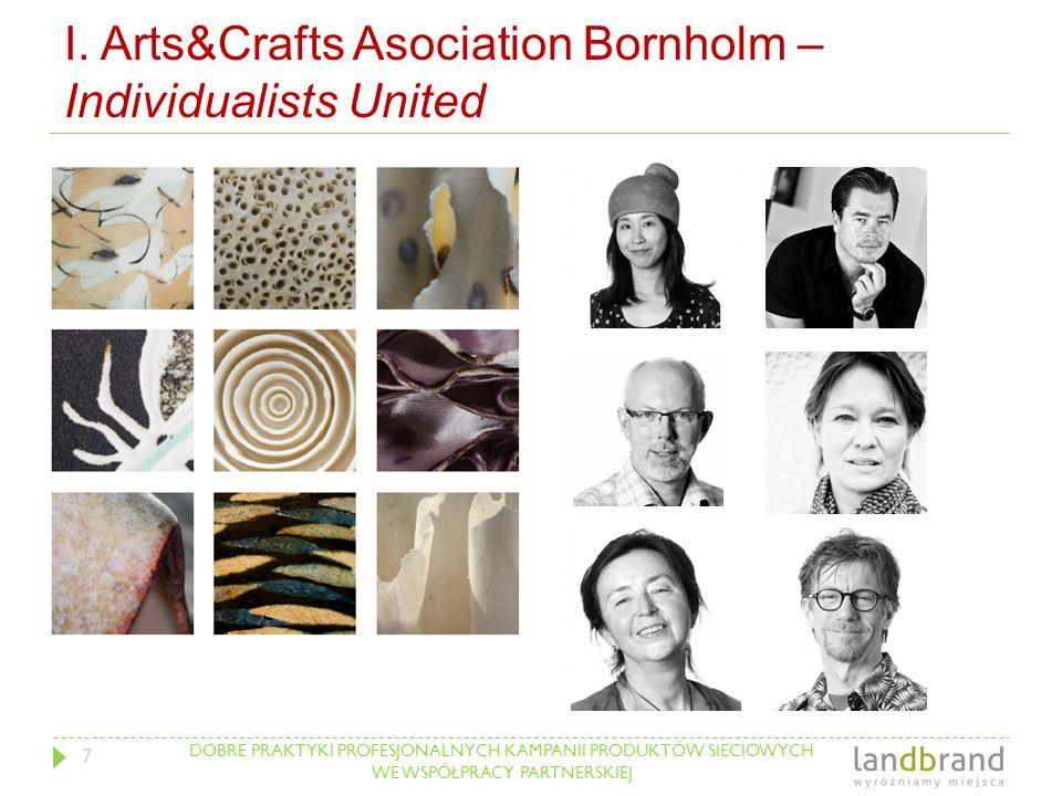DOBRE PRAKTYKI PROFESJONALNYCH KAMPANII PRODUKTÓW SIECIOWYCH WE WSPÓŁPRACY PARTNERSKIEJ I. Arts&Crafts Asociation Bornholm – Individualists United 7