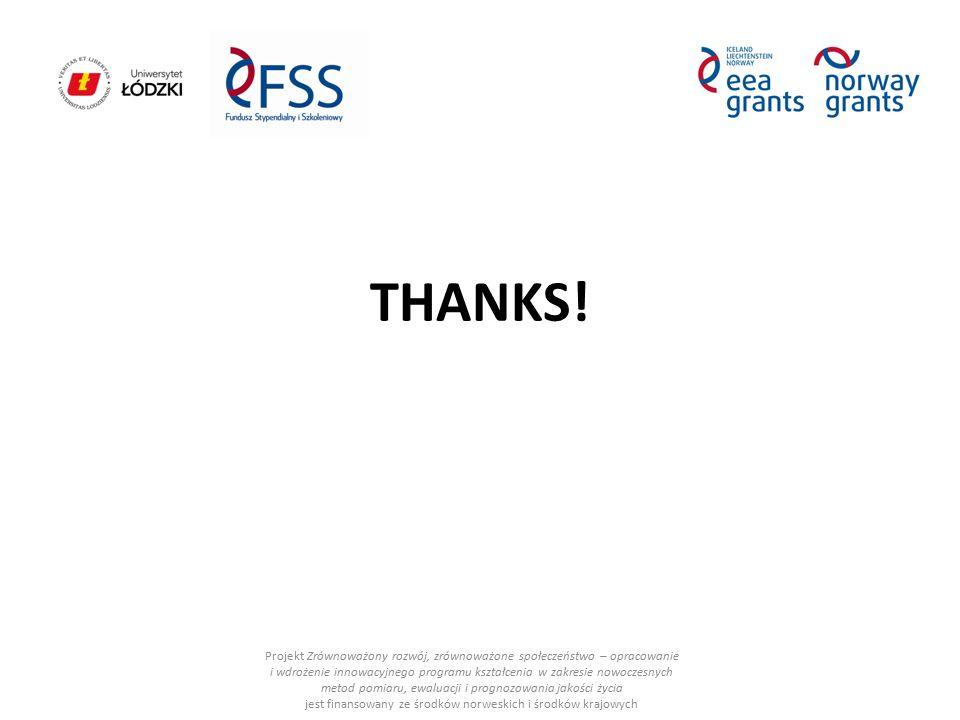 THANKS! Projekt Zrównoważony rozwój, zrównoważone społeczeństwo – opracowanie i wdrożenie innowacyjnego programu kształcenia w zakresie nowoczesnych m