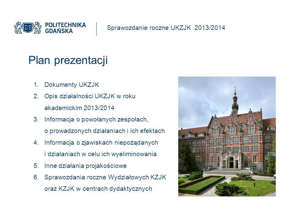 6.Sprawozdania roczne wydziałów i centrów Sprawozdanie roczne UKZJK 2013/2014 6.1.