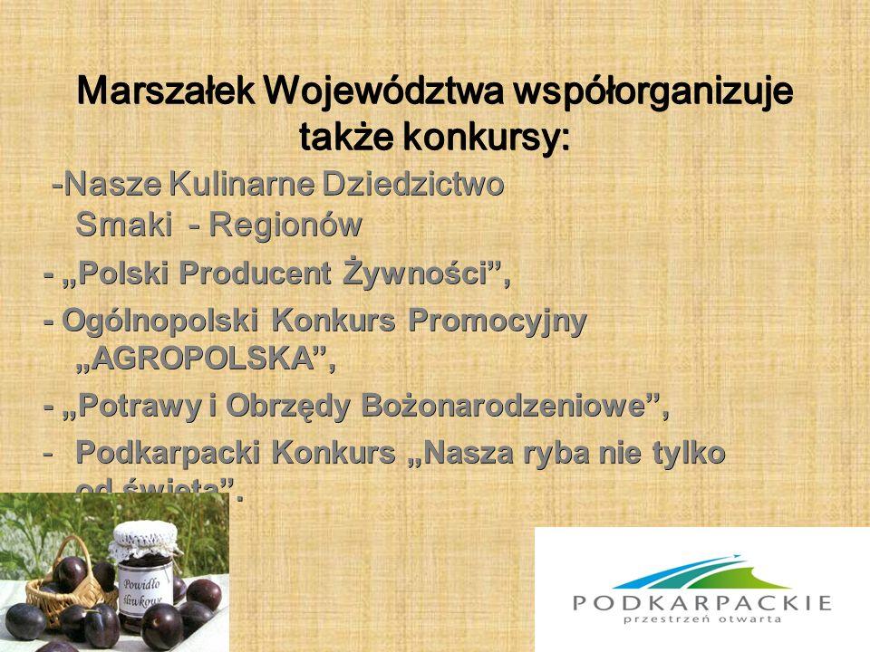 """Żywność wysokiej jakości była prezentowana podczas wielu krajowych i międzynarodowych imprez targowych: - Międzynarodowe Targi Wyrobów Spożywczych """"POLAGRA FOOD Smaki Regionów w Poznaniu, - Dożynki Prezydenckie w Spale, - Targi Naturalnej Żywności """"NATURA FOOD w Łodzi, - Międzynarodowe Targi Żywności i Produktów Ekologicznych """"BIOFACH w Norymberdze,"""
