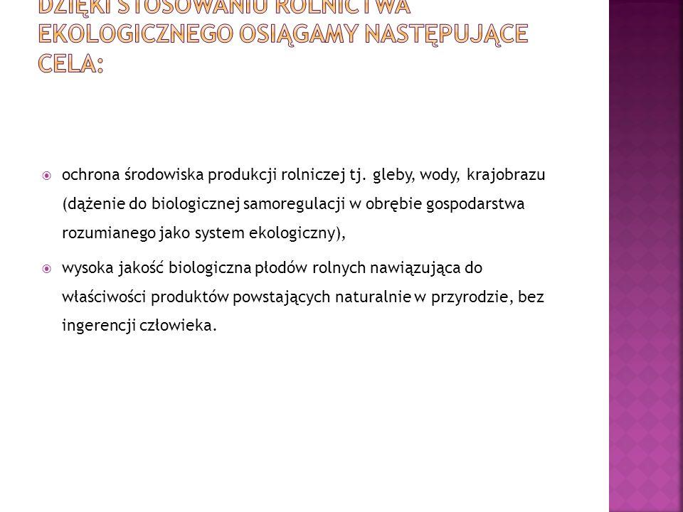 ochrona środowiska produkcji rolniczej tj.