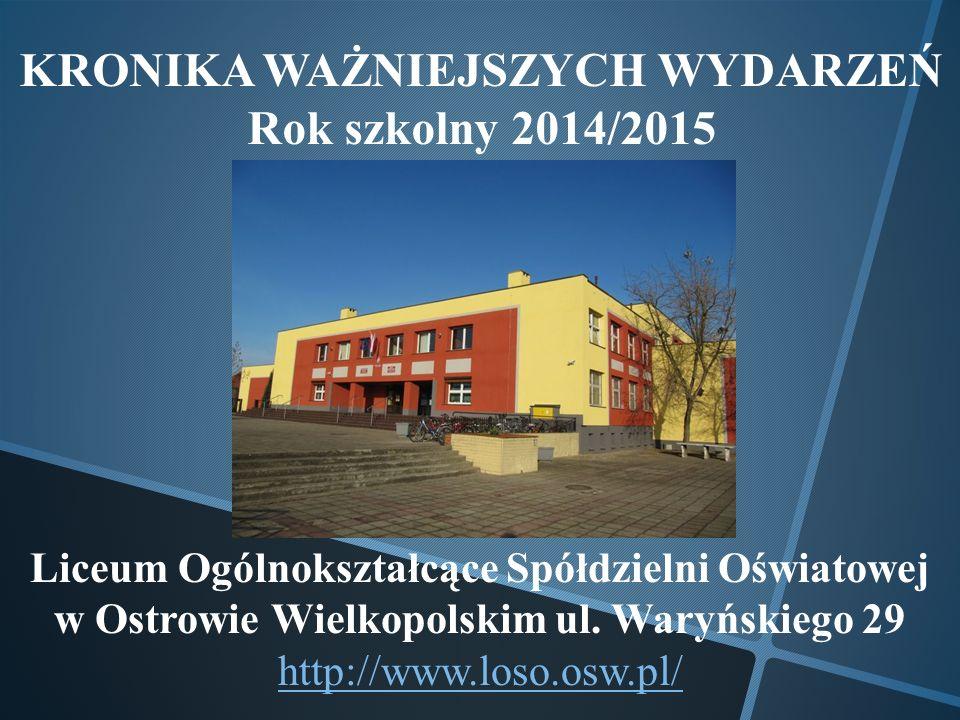 1 WRZEŚNIA 2014 Inauguracja roku szkolnego 2014/2015 Inaugurację roku szkolnego rozpoczęła swoim wystąpieniem Pani Dyrektor Dorota Musiał.