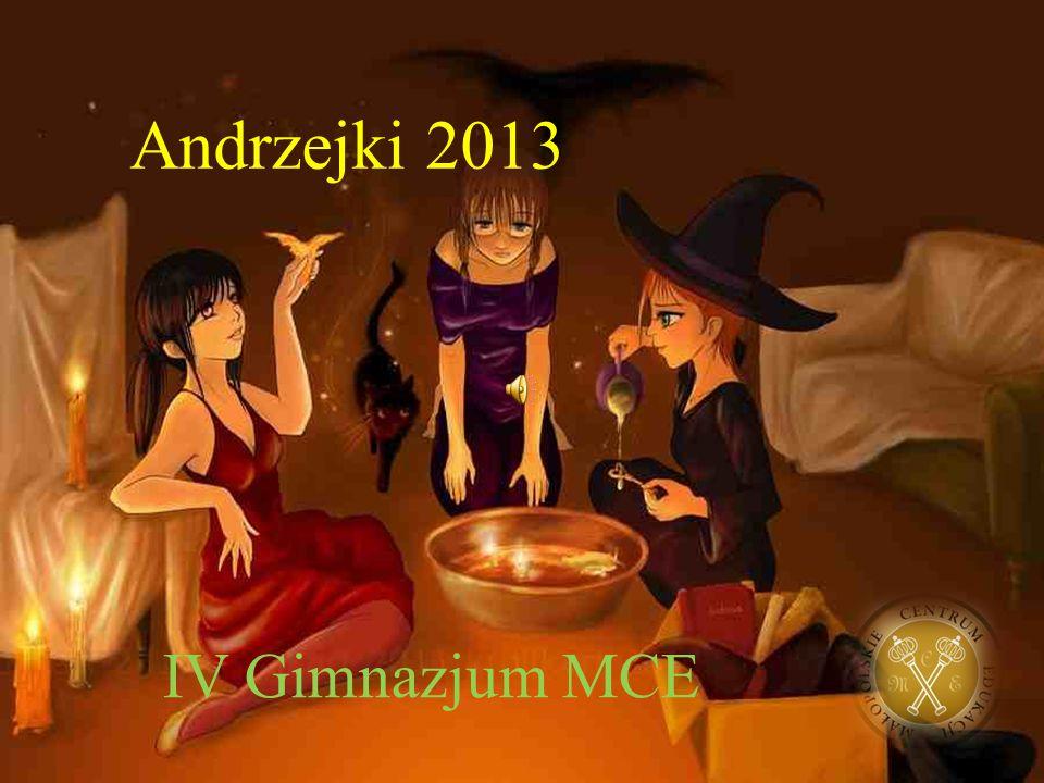 """Źródła: http://www.edukacja.edux.pl/p-2248-ksiega-wrozb-andrzejki.php http://www.wrozbyonline.pl/andrzejki http://halloween.friko.net/andrzejki.html Tradycja ustna… Muzyka: Antonio Badalamenti """"Fred's world Foto tła: http://jasnowidzvanessa.files.wordpress.com/2013/10/st_an drew__s_day_by_krulik_art-d4c0px3.jpg"""