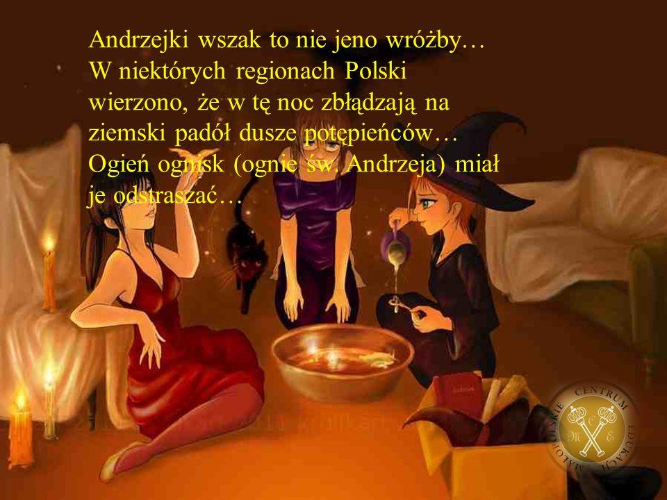 Andrzejki wszak to nie jeno wróżby… W niektórych regionach Polski wierzono, że w tę noc zbłądzają na ziemski padół dusze potępieńców… Ogień ognisk (ognie św.
