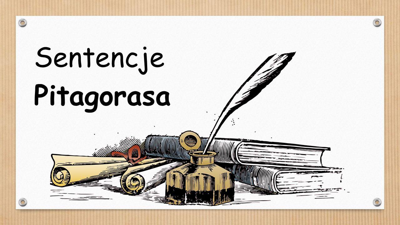 Sentencje Pitagorasa