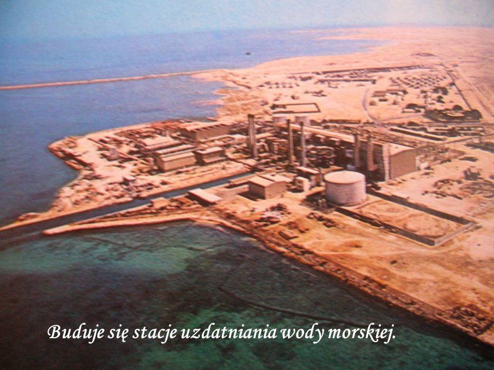 Buduje się stacje uzdatniania wody morskiej.