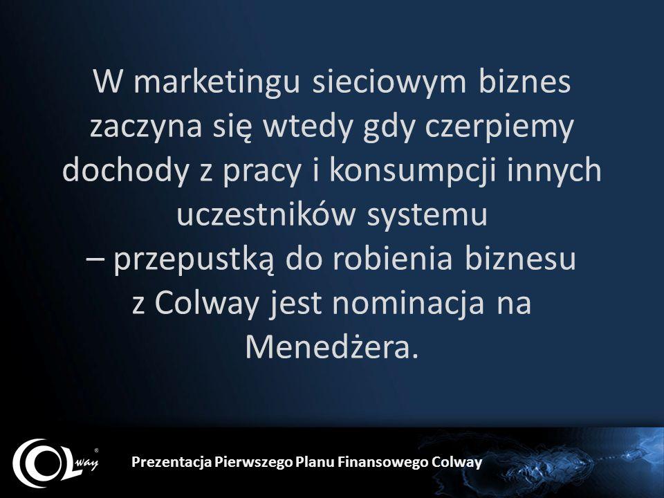 W marketingu sieciowym biznes zaczyna się wtedy gdy czerpiemy dochody z pracy i konsumpcji innych uczestników systemu – przepustką do robienia biznesu