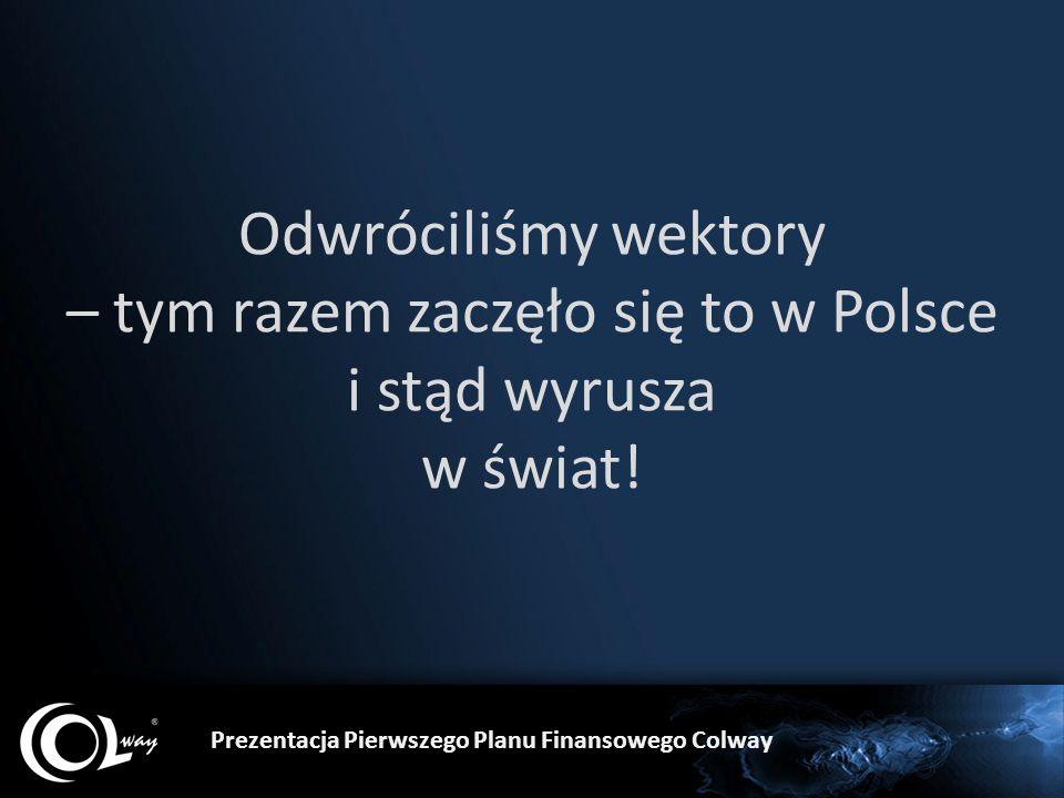 Odwróciliśmy wektory – tym razem zaczęło się to w Polsce i stąd wyrusza w świat! Prezentacja Pierwszego Planu Finansowego Colway