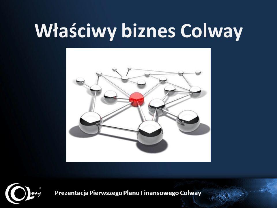 Część prezentacji tylko dla zainteresowanych biznesem Colway.