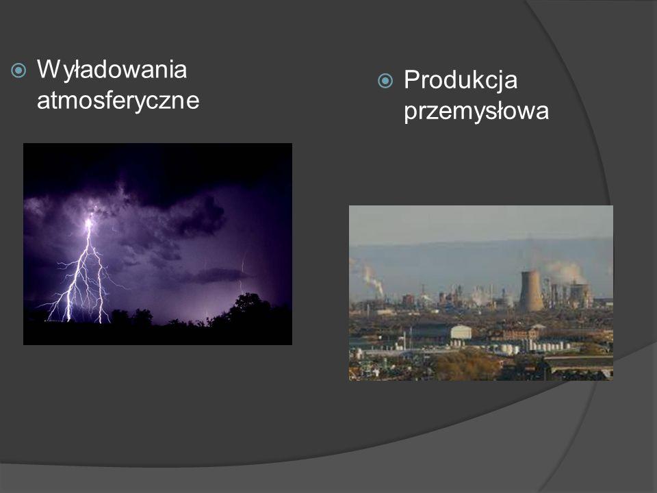  Wyładowania atmosferyczne  Produkcja przemysłowa