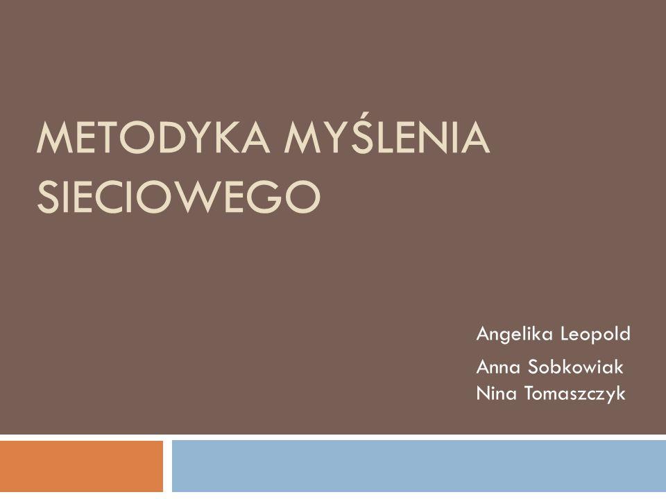 METODYKA MYŚLENIA SIECIOWEGO Angelika Leopold Anna Sobkowiak Nina Tomaszczyk