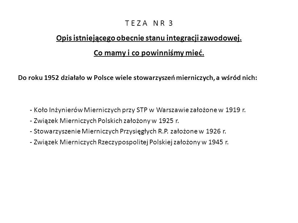 T E Z A N R 3 Opis istniejącego obecnie stanu integracji zawodowej.