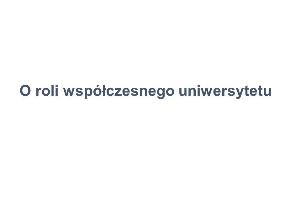 O roli współczesnego uniwersytetu
