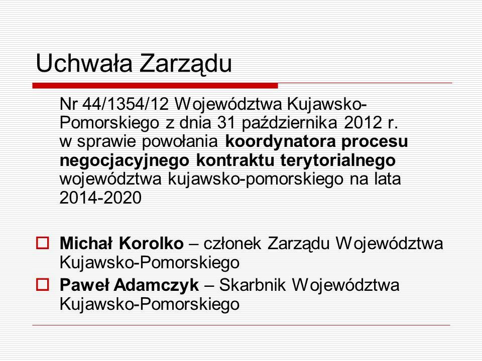 Uchwała Zarządu Nr 44/1354/12 Województwa Kujawsko- Pomorskiego z dnia 31 października 2012 r.