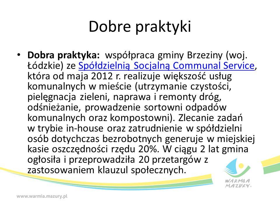 Dobre praktyki Dobra praktyka: współpraca gminy Brzeziny (woj.