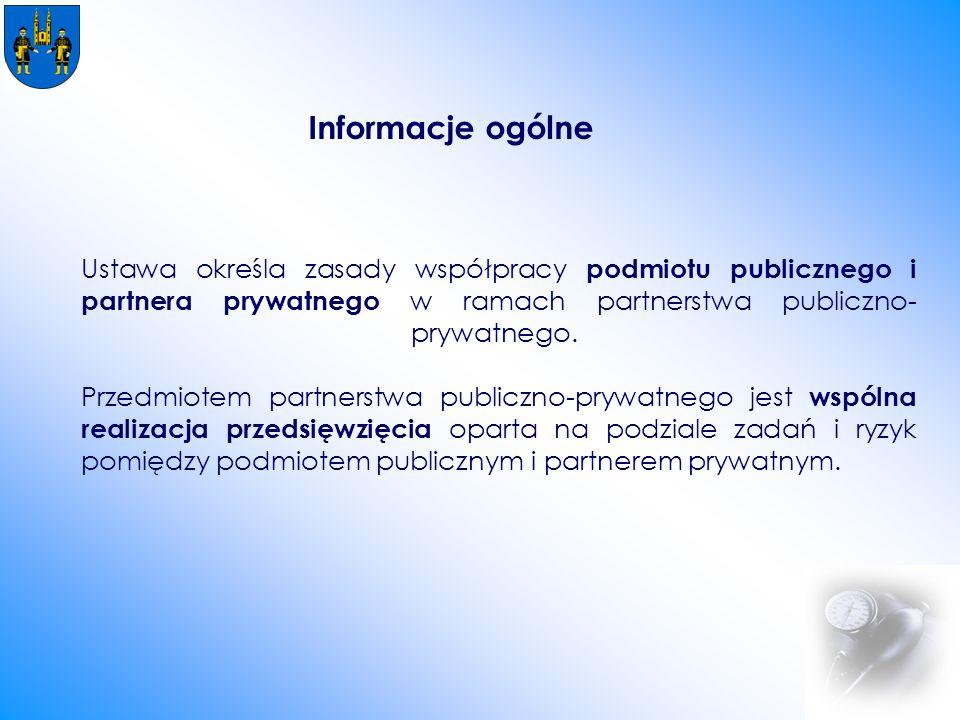 Ustawa określa zasady współpracy podmiotu publicznego i partnera prywatnego w ramach partnerstwa publiczno- prywatnego.