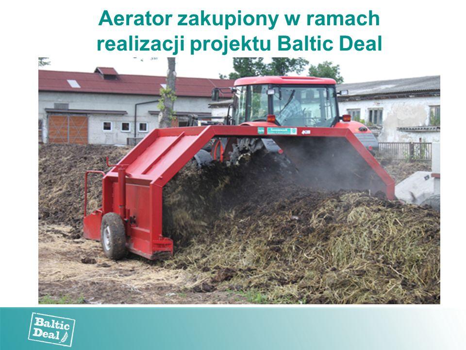 Aerator zakupiony w ramach realizacji projektu Baltic Deal