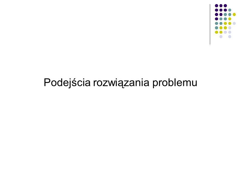 Podejścia rozwiązania problemu