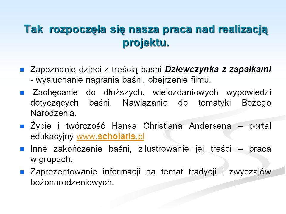 Ewaluacja projektu – zaprezentowanie jasełek Betlejemska dobranocka kolegom ze szkoły, rodzicom i pensjonariuszom Domu Opieki w Gliwicach – Sośnicy.
