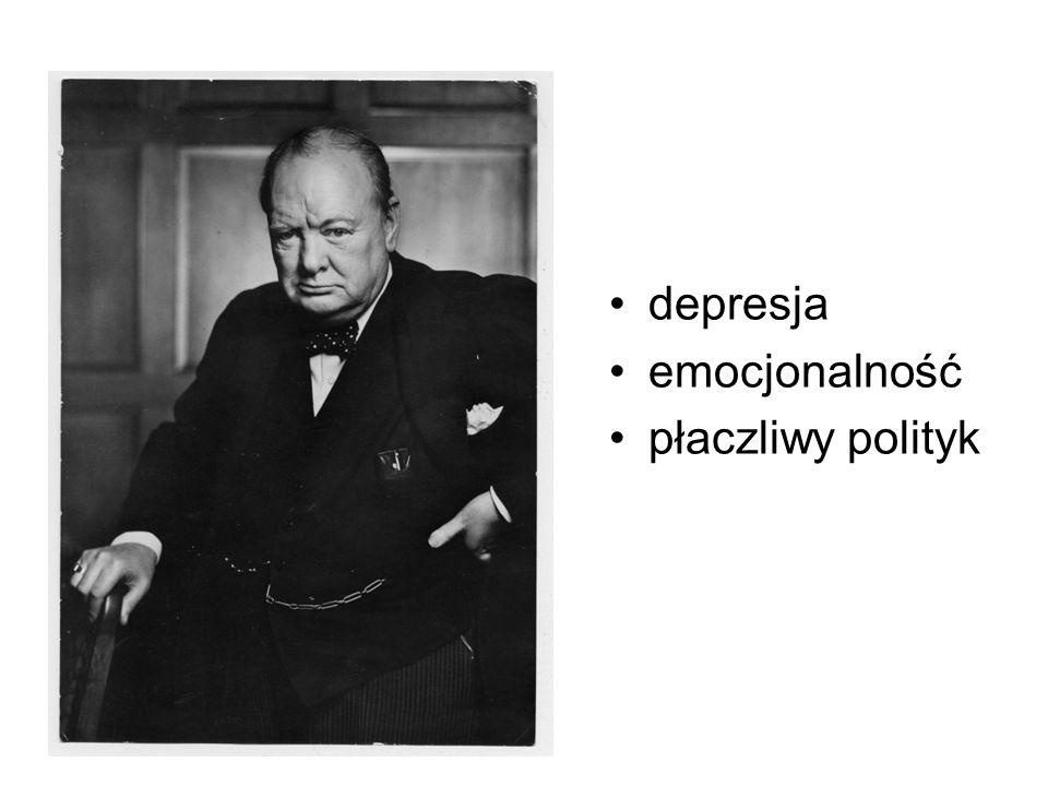 Przez większość swojego życia Churchill zmagał się z depresją, którą on sam określał mianem czarnego psa .