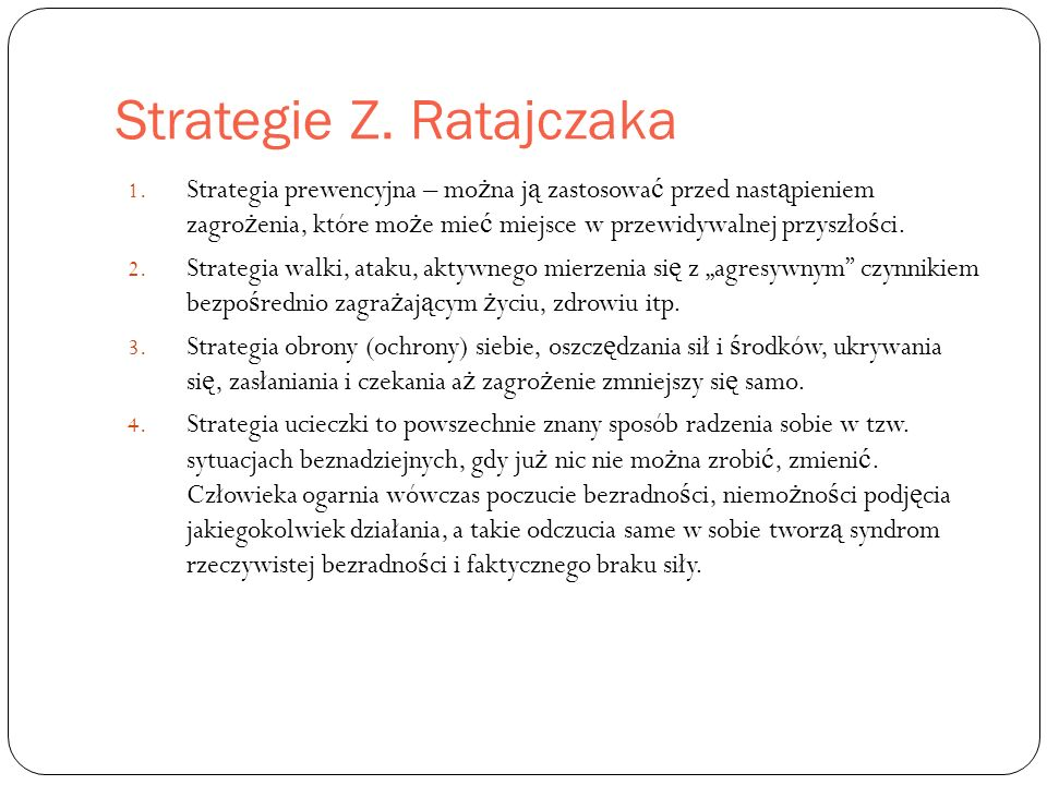 Strategie Z. Ratajczaka 1.
