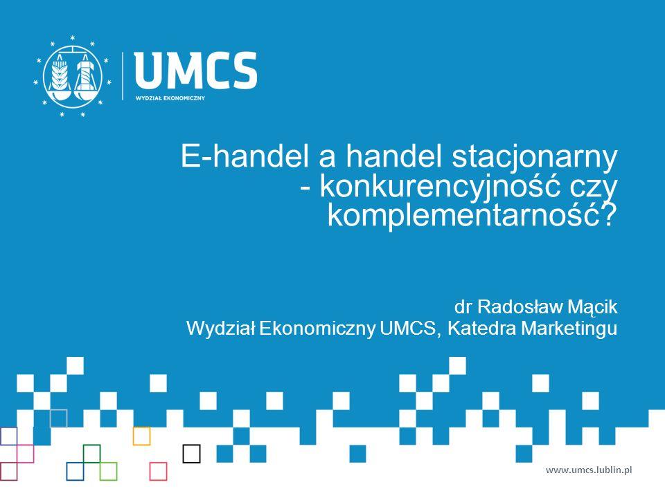 E-handel a handel stacjonarny - konkurencyjność czy komplementarność.