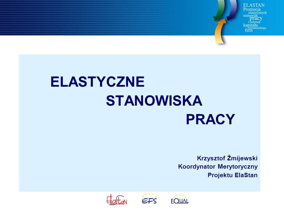 ELASTYCZNE STANOWISKA PRACY Krzysztof Żmijewski Koordynator Merytoryczny Projektu ElaStan