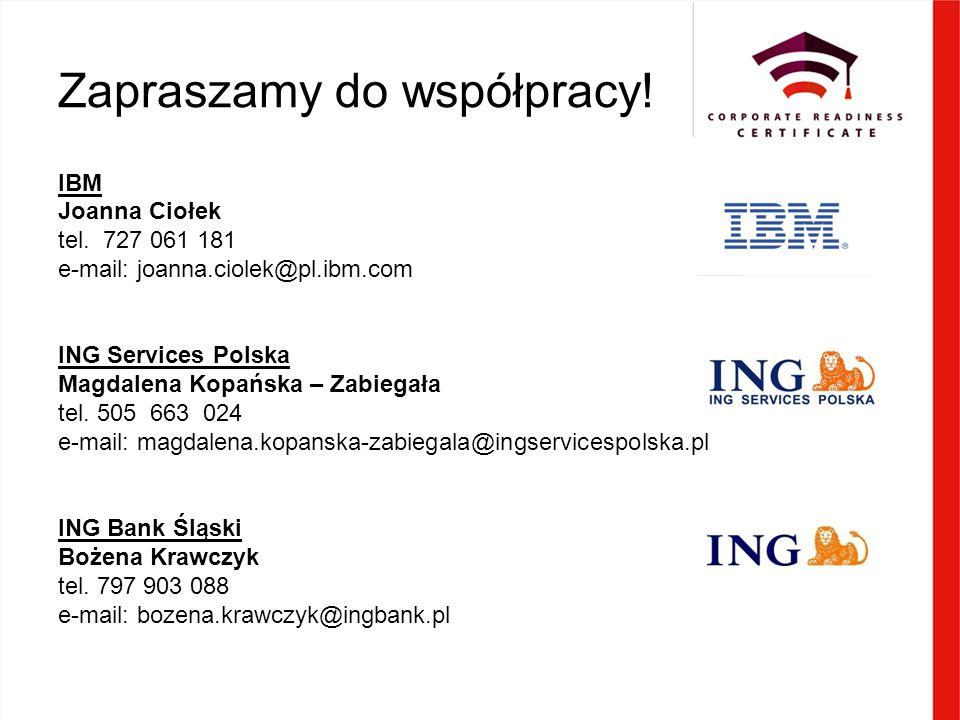 Zapraszamy do współpracy. IBM Joanna Ciołek tel.