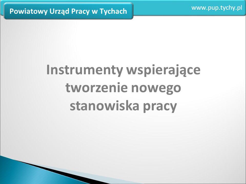 Instrumenty wspierające tworzenie nowego stanowiska pracy www.pup.tychy.pl Powiatowy Urząd Pracy w Tychach