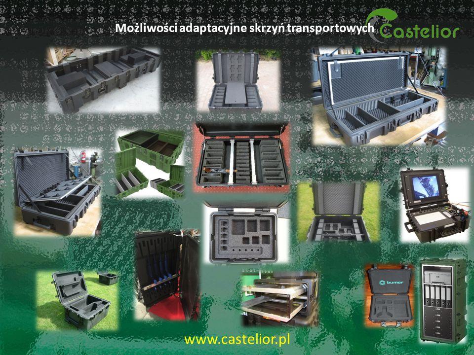 Możliwości adaptacyjne skrzyń transportowych 17 www.castelior.pl