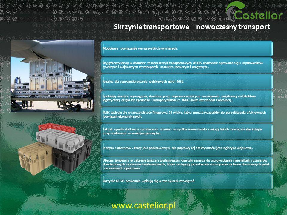 METODY FORMOWANIA SKRZYŃ ROTACYJNE- ROTOMOULDING WYSOKOĆIŚNIENIOWE 10 www.castelior.pl