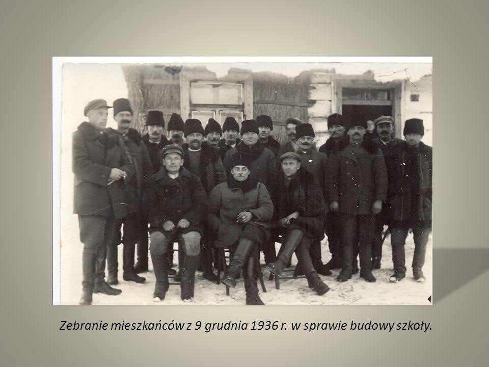 Zebranie mieszkańców z 9 grudnia 1936 r. w sprawie budowy szkoły.