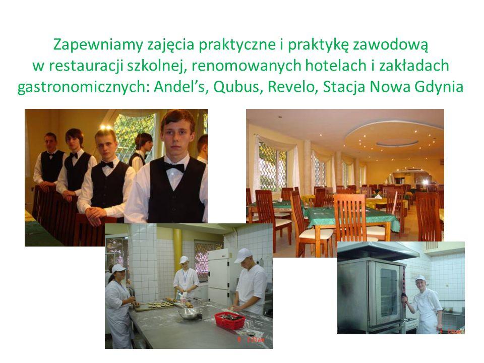 Realizujemy międzynarodowe projekty dotyczące wymiany doświadczeń zawodowych Projekt e-twining dotyczący poznawania tradycji i zwyczajów kulturowych Współpracujemy ze szkołą gastronomiczną w Belgii