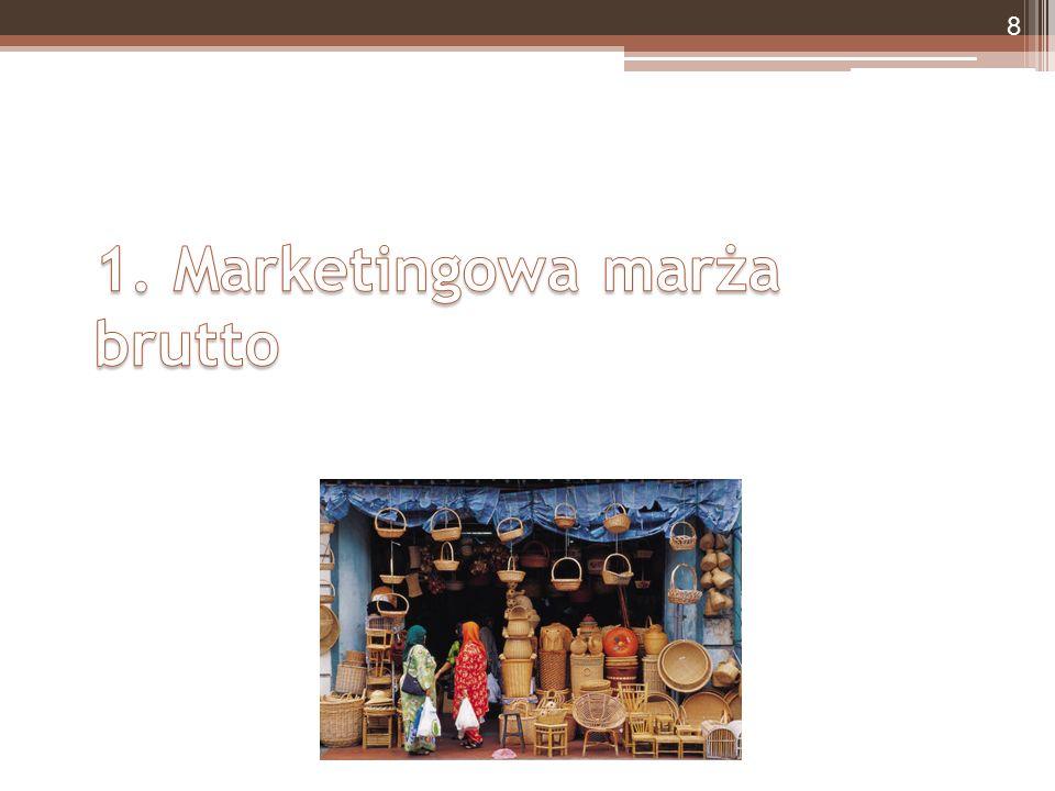 Dystrybucja numeryczna DN – dystrybucja numeryczna S M – liczba sklepów, które prowadzą sprzedaż marki X S KP – liczba sklepów prowadzących sprzedaż kategorii produktowej, do której należy marka X Prowadzenie numeryczne ▫Odsetek sklepów prowadzących sprzedaż danej marki wśród sklepów prowadzących sprzedaż produktów całej kategorii (sklep mógł handlować daną marką, ale nie sprzedał ani jednej sztuki w badanym okresie) Numeryczna dystrybucja sprzedaży ▫Odsetek sklepów prowadzących sprzedaż danej marki, które zanotowały przynajmniej jedną transakcję sprzedaży w badanym okresie Numeryczna dystrybucja netto ▫Różnica między wskaźnikiem prowadzenia numerycznego a wskaźnikiem braków w ujęciu numerycznym 49