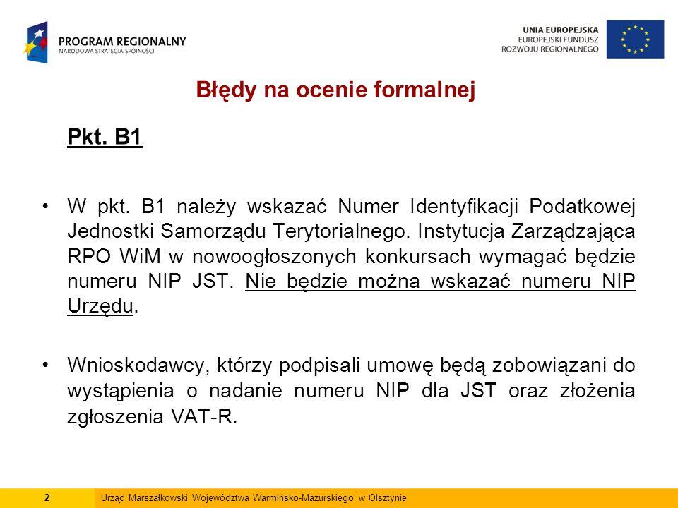Pkt. B1 W pkt.