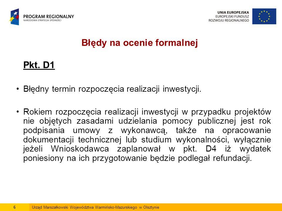 6Urząd Marszałkowski Województwa Warmińsko-Mazurskiego w Olsztynie Pkt.