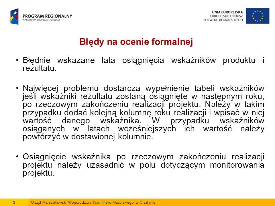 Pkt.E4 Wnioskodawcy nie wpisują wszystkich przewidzianych postępowań przetargowych.