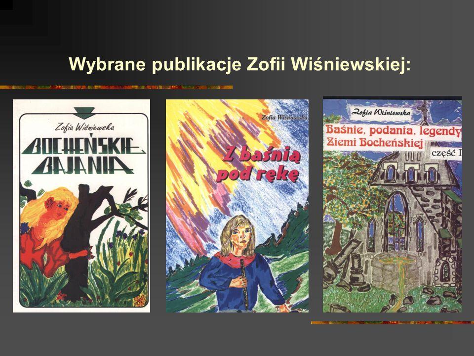 Wybrane publikacje Zofii Wiśniewskiej: