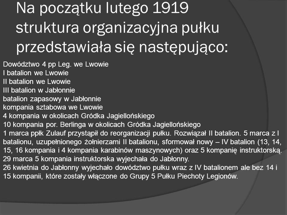Jabłonna 15 marca dowództwo nad III batalionem i batalionem zapasowym objął mjr Erwin Więckowski.