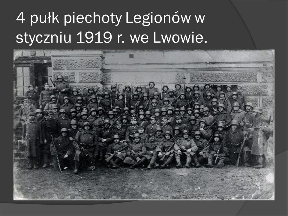 Pluton kompanii szturmowej z 2 baonu 4 Pułku Piechoty Legionów 27.11.1918 r.