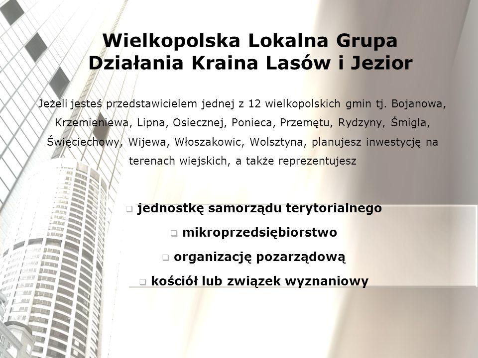 Jeżeli jesteś przedstawicielem jednej z 12 wielkopolskich gmin tj. Bojanowa, Krzemieniewa, Lipna, Osiecznej, Ponieca, Przemętu, Rydzyny, Śmigla, Święc