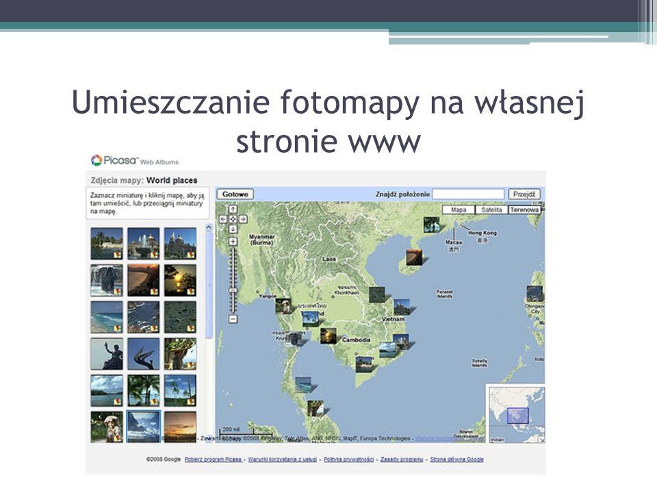 Umieszczanie fotomapy na własnej stronie www