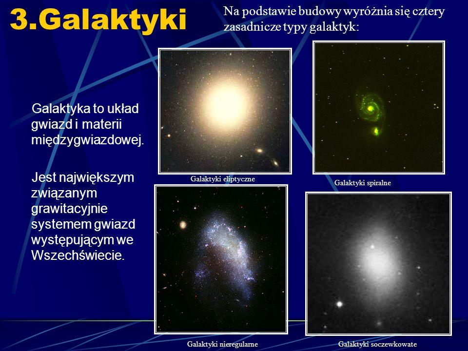3.Galaktyki Galaktyka to układ gwiazd i materii międzygwiazdowej.