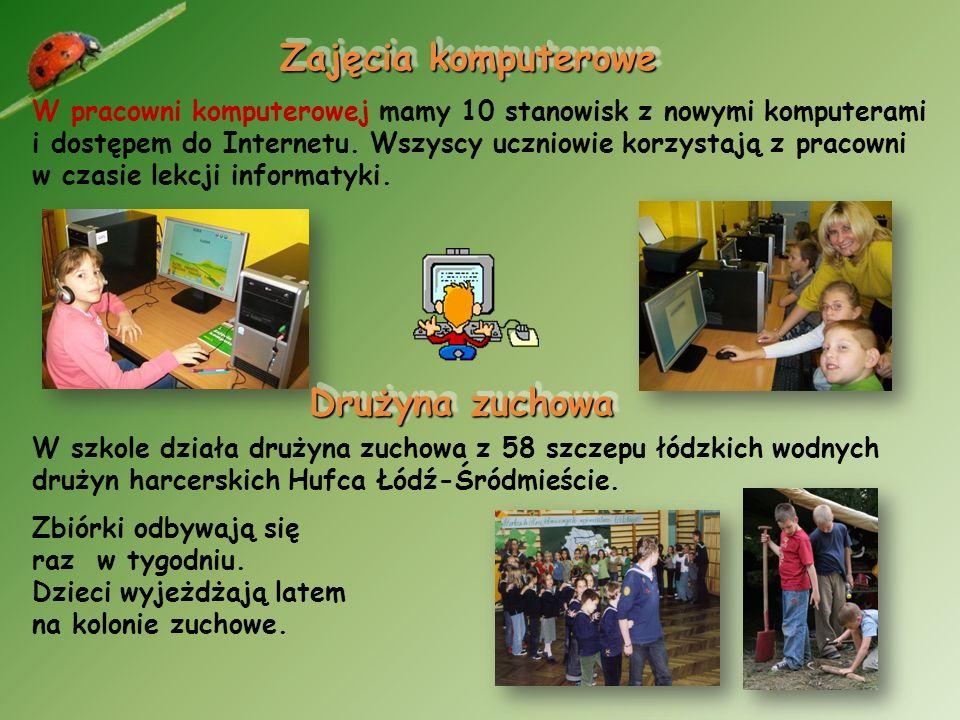 Oferta edukacyjna szkoły Lekcje języka angielskiego, prowadzi pani Katarzyna Kościelska-Nyk. Zajęcia odbywają się dwa razy w tygodniu. Również dwa raz