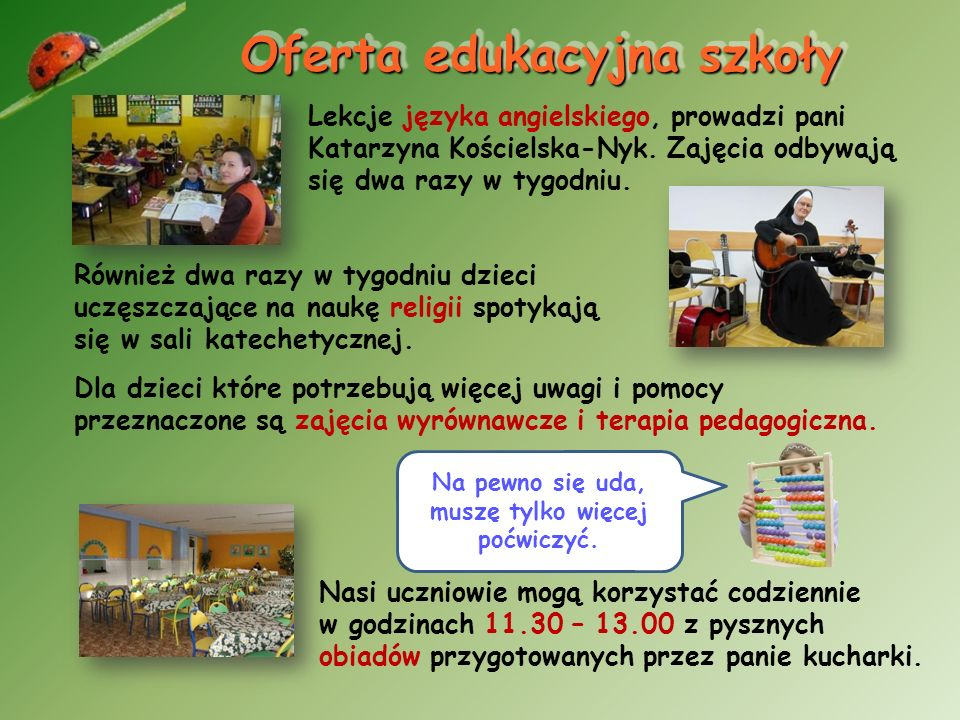 Pedagog szkolny Pani pedagog Iwona Dubel zajmuje się trudnymi sprawami wychowawczymi uczniów, pomocą materialną dla rodzin, profilaktyką. Prowadzi w s