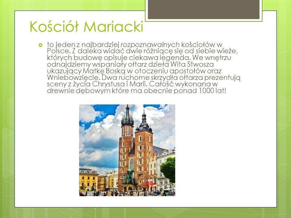 Kościół Mariacki  to jeden z najbardziej rozpoznawalnych kościołów w Polsce.