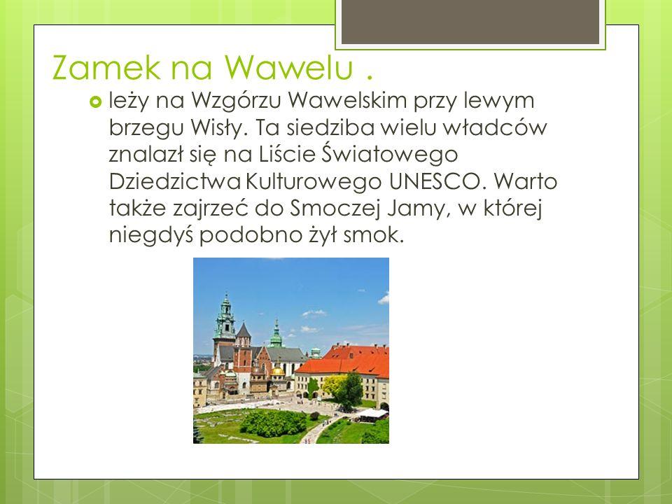 Zamek na Wawelu.  leży na Wzgórzu Wawelskim przy lewym brzegu Wisły.