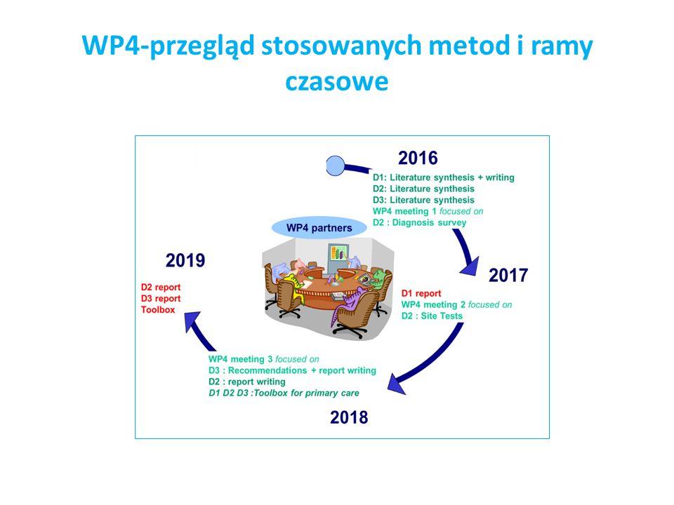 WP4-przegląd stosowanych metod i ramy czasowe