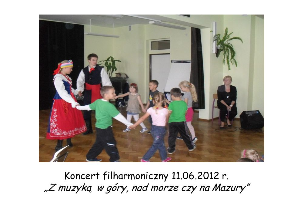 """Koncert filharmoniczny 11.06.2012 r. """"Z muzyką w góry, nad morze czy na Mazury"""""""