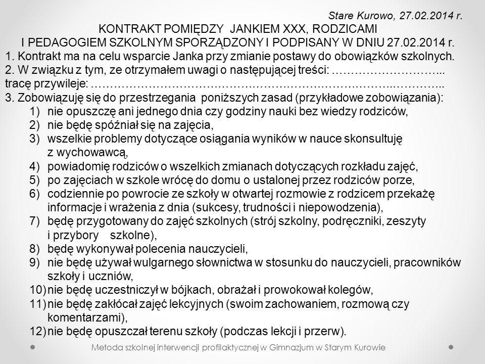 Stare Kurowo, 27.02.2014 r.